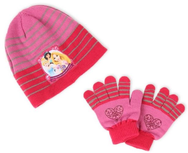 ensemble bonnet gants disney princesses