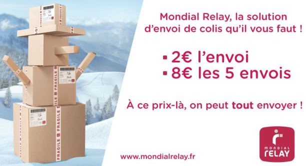 mondial relay 1 envoi de colis pas cher pour 2 ou 5 pour 8. Black Bedroom Furniture Sets. Home Design Ideas