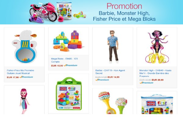 Barbie, Monster High, Fisher Price et Mega Bloks à -40 % sur Amazon