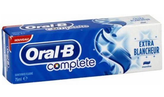 dentifrice oral-b extra blancheur