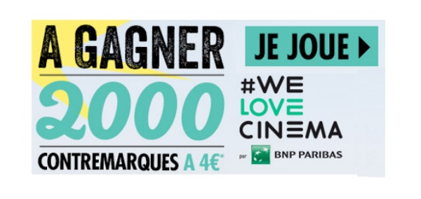 2 000 places de ciné à 4 €