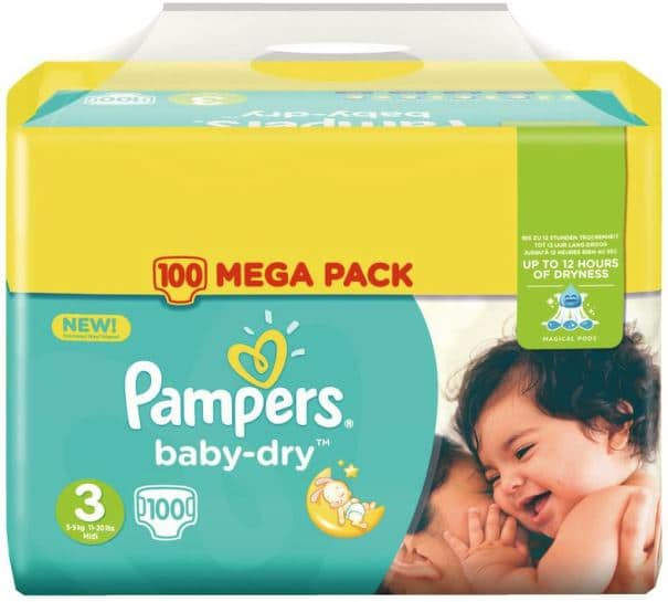 couches pampers baby-dry chez auchan