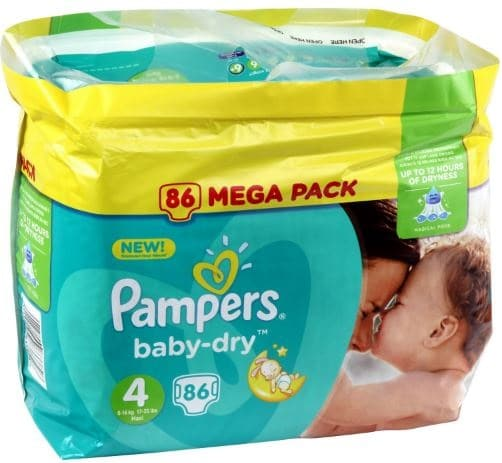 Couches pampers carrefour giga pack baby dry en taille - Prix couches pampers new baby taille 1 ...