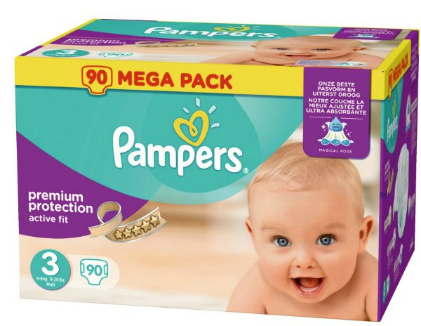 180 couches Pampers Active Fit à 24,90 € chez Auchan
