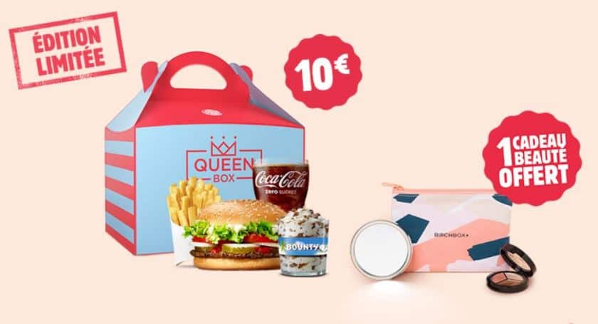 La queen box de burger king à 10 €