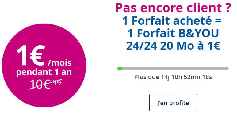 forfait b and you 24/24 à 1 euro