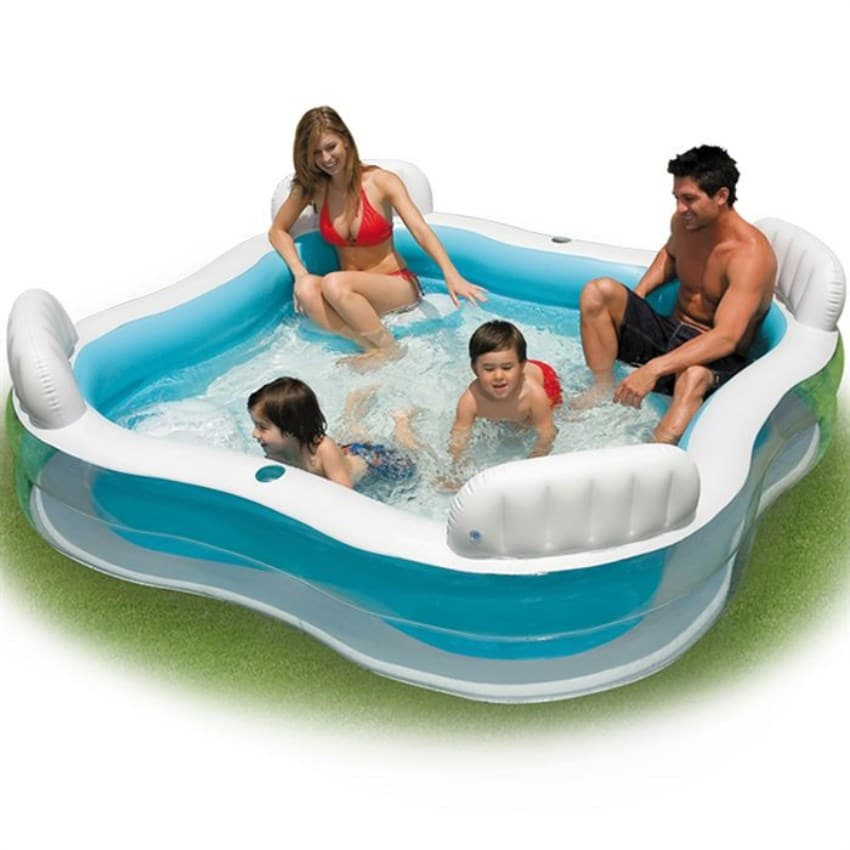 Piscine Intex Gonflable 4 Sièges 229 X 229 X 66 Cm À 19.99 €