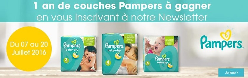 couches pampers offertes rose bleu