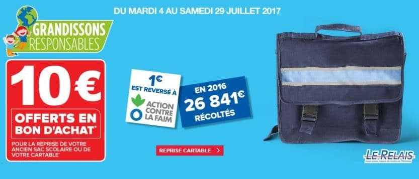 reprise cartable super u 2017