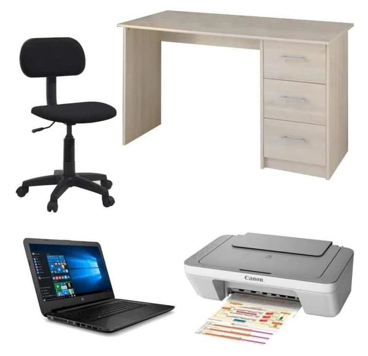 Pc portable hp 14 bureau chaise imprimante 299 99 for Table pour ordinateur et imprimante