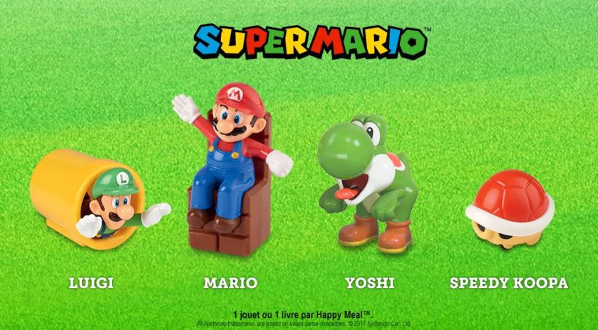 figurine super mario offerte dans happy meal mcdo