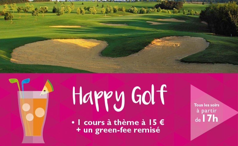 Initiation gratuite et soirées Happy Golf aux golfs Blue Green