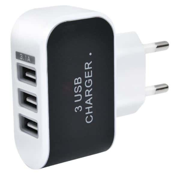 chargeur 3 ports usb