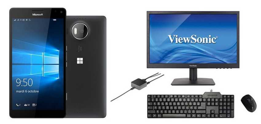 Lumia 950 XL et pack continuum Windows sur Rue du Commerce