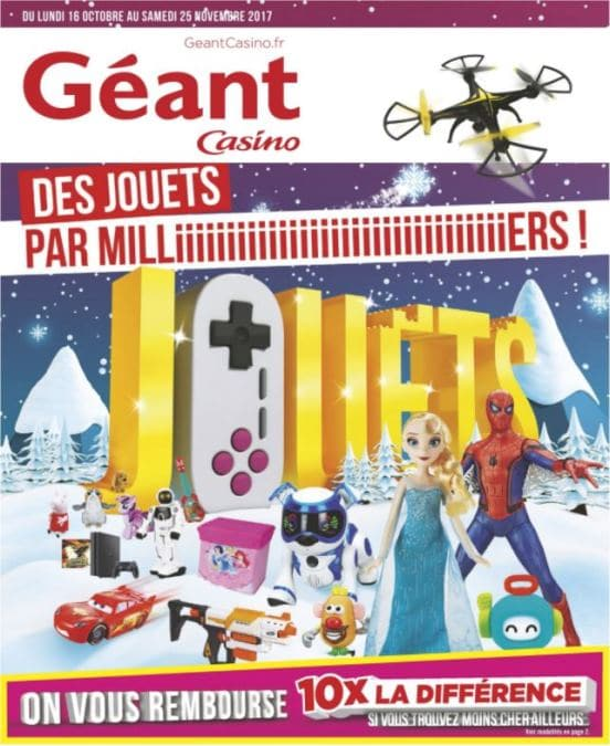 Catalogue g ant casino no l 2017 jouets en promo for Piscine geant casino