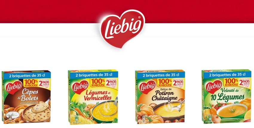 2 packs de 2x35 cl de soupes Liebig