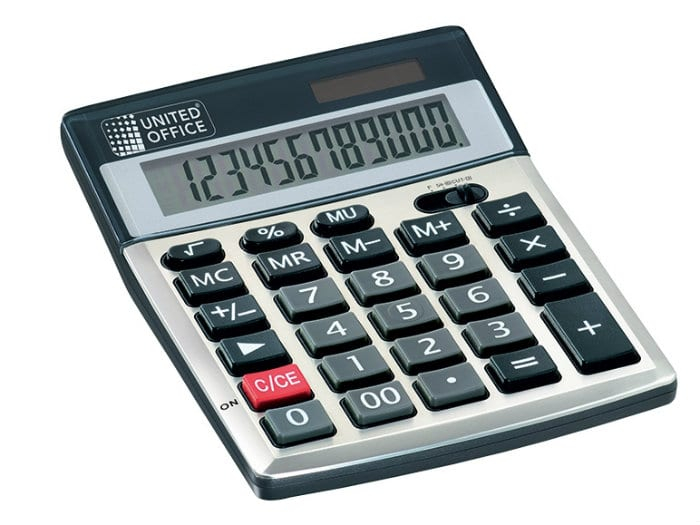 lidl   calculatrice united office solaire et  u00e0 pile  u00e0 2 99 u20ac