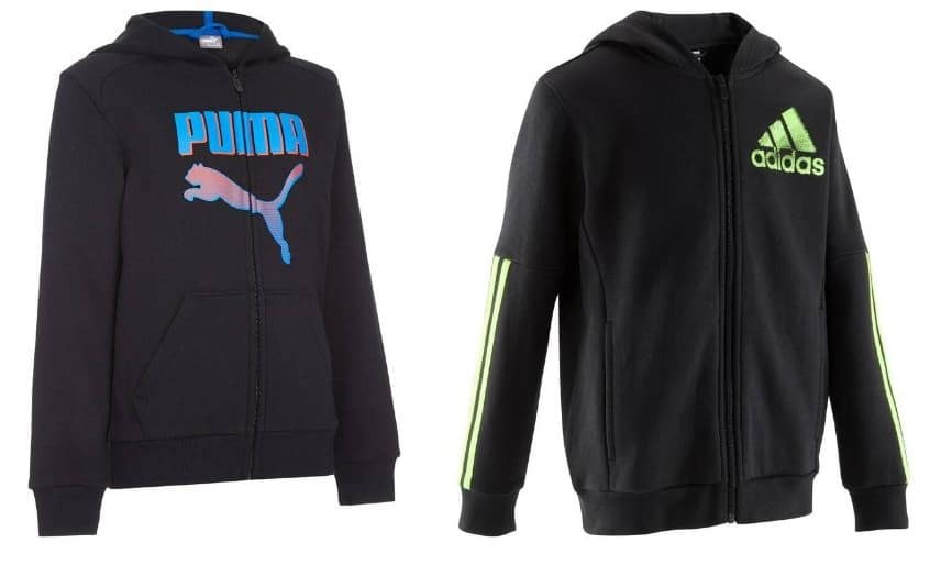decathlon vestes capuche adidas puma enfant 20. Black Bedroom Furniture Sets. Home Design Ideas
