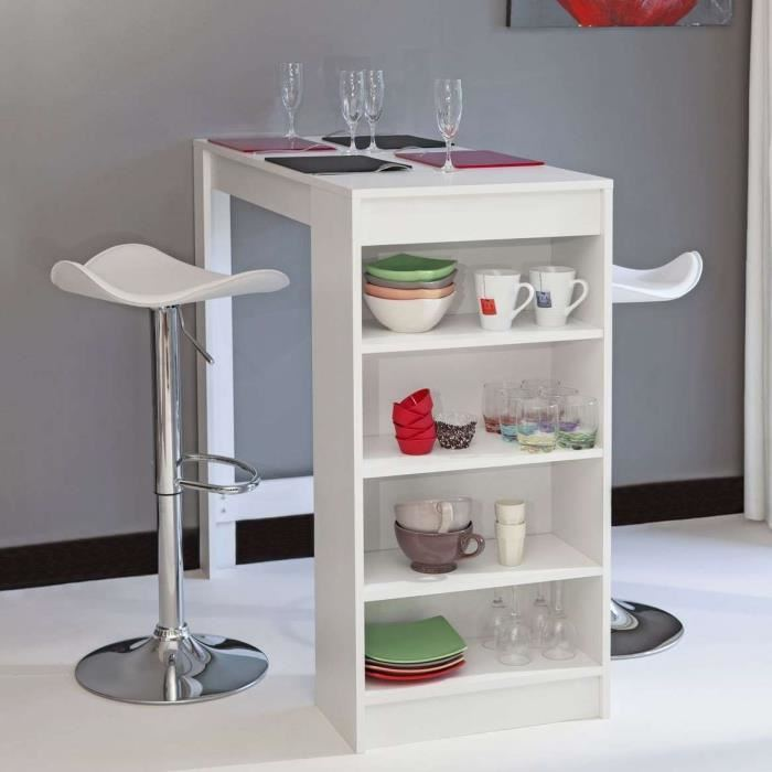 Cdiscount table bar 2 4 personnes 89 99 for Longueur table 4 personnes