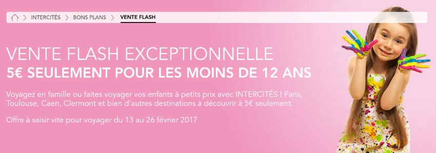 vente flash intercites enfant
