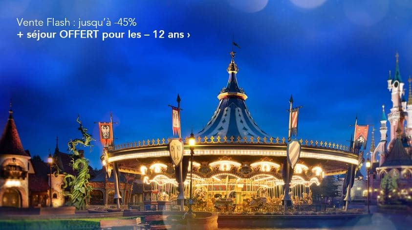 Vente flash disneyland paris s jour jusqu 39 45 for Sejour complet disneyland paris