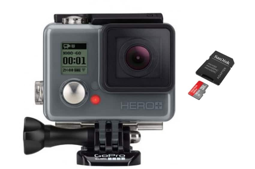 GoPro Hero+ + ultra micro SD 16 Go à 119,90 € chez Darty