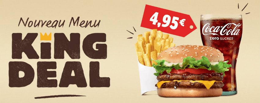 nouveau menu king deal chez burger king
