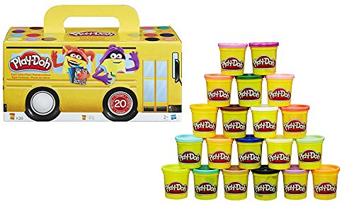 Lot de 20 pots Hasbro Play Doh à 9,99 € sur Amazon.
