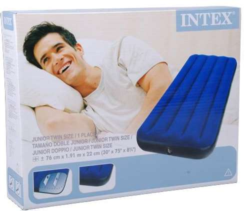 action matelas gonflable 1 personne intex 5 95. Black Bedroom Furniture Sets. Home Design Ideas