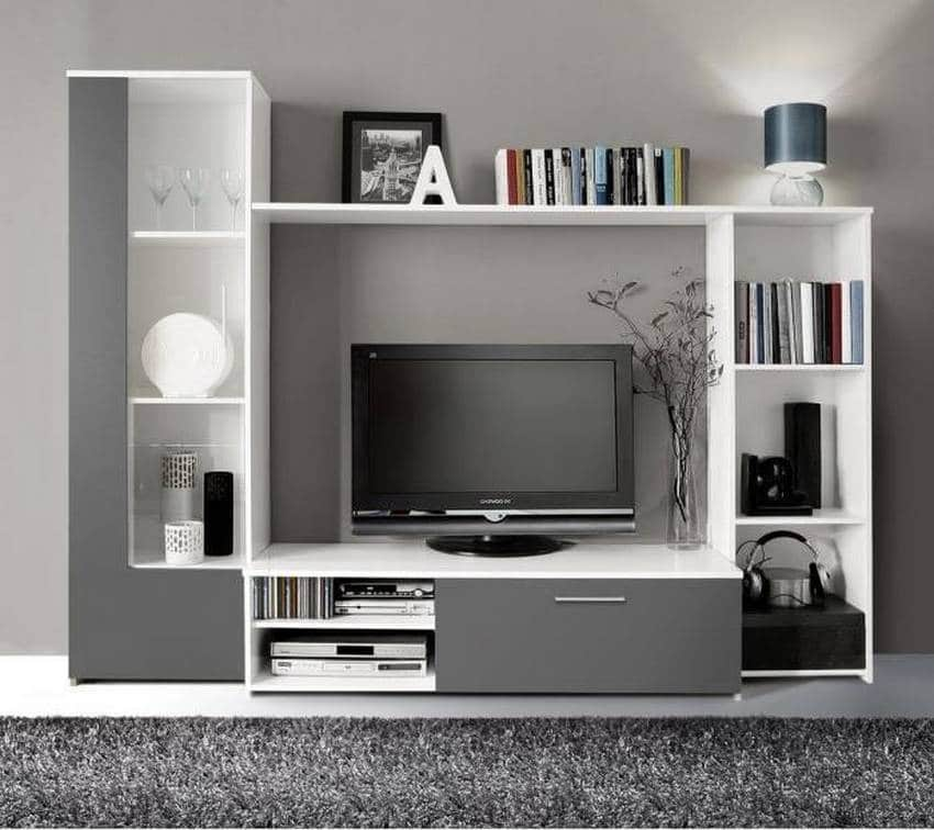 cdiscount meuble tv mural finlandek tilvi 220cm 142 95. Black Bedroom Furniture Sets. Home Design Ideas