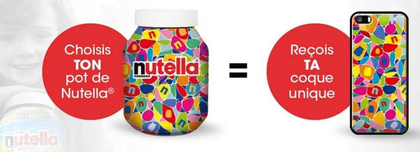 Coque unique nutella offerte pour l achat d un pot collector 950g - Lampe pot de nutella ...
