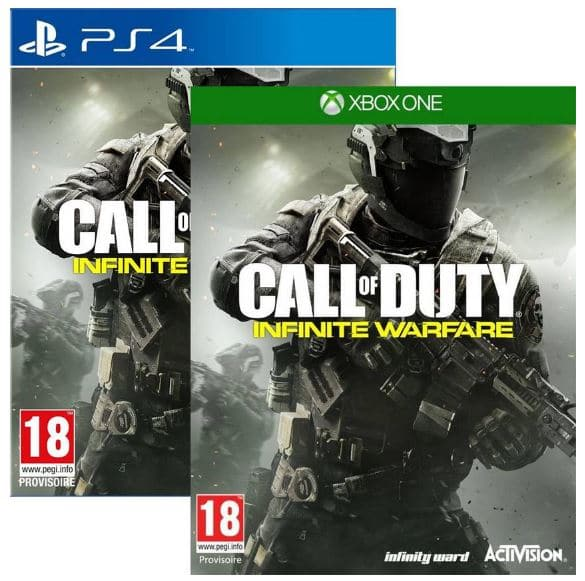 Soldes sur le jeu Call of Duty Infinite Warfare PS4 et Xbox One