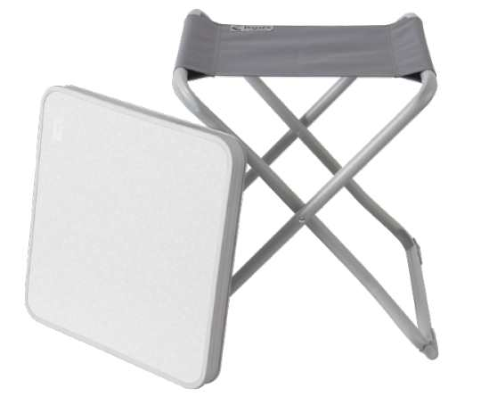 La chaise pliante aluminium et la table de camping à 7,95 € chez Action