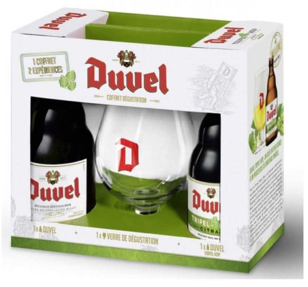 carrefour coffret duvel 2 bi res 1 verre pas cher. Black Bedroom Furniture Sets. Home Design Ideas