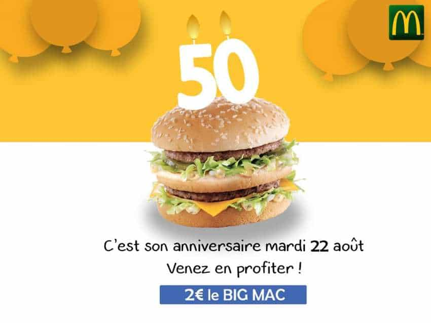 Le Big Mac à 2 € dans les restaurants McDonald's participants