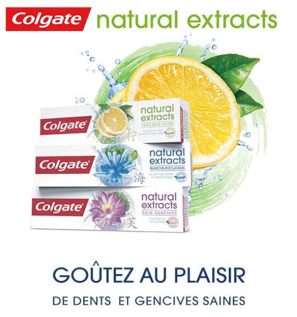 5 000 dentifrices Colgate Natural Extracts en test gratuit sur Trnd