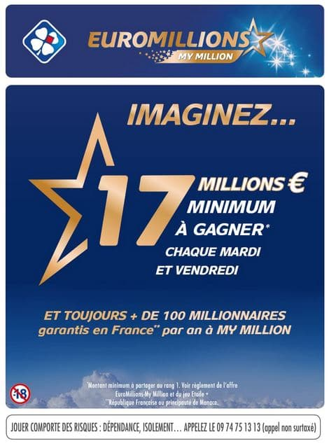 Bon de réduction de 1,50 € sur la grille Euro Millions My Million avec Shopmium
