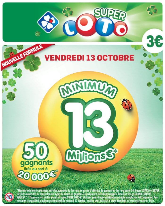 réduction Super Loto vendredi 13 Octobre 2017