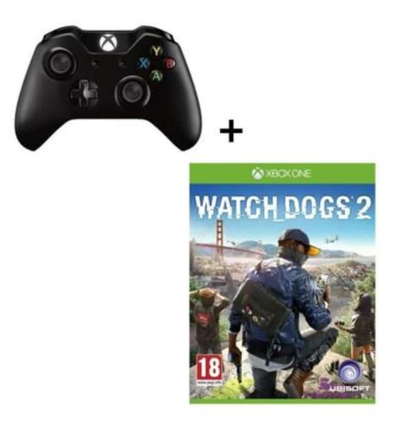 manette xbox one sans fil et jeu watch dog 2