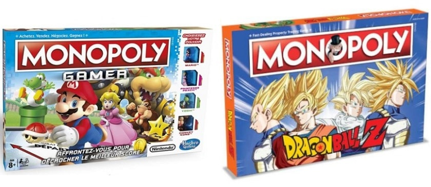 Mopoly Dragon Ball Z et Gamer de Hasbro