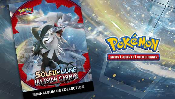 Mini-album de collection Pokémon Soleil et Lune Invasion Carmin offert chez Micromania