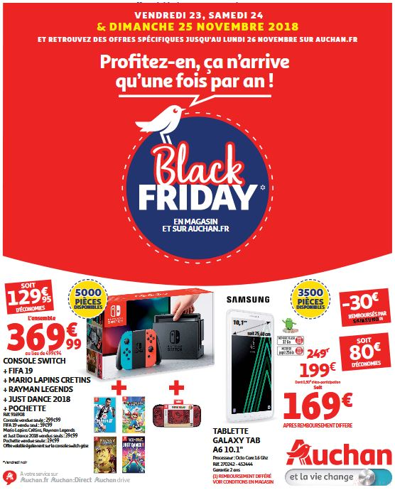 Offres du catalogue Black Friday Auchan 2018