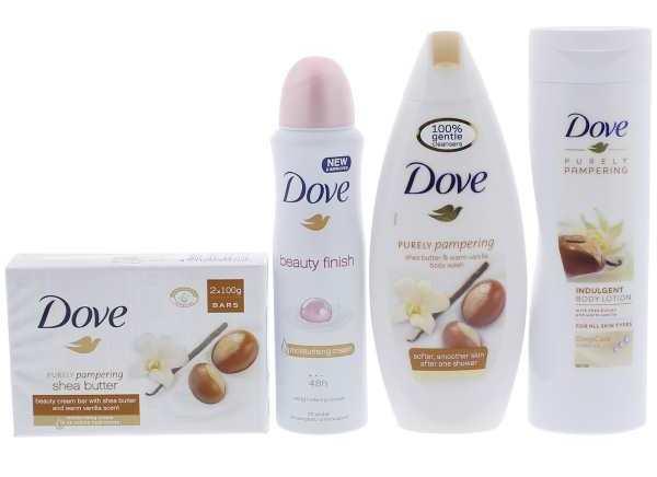 Le coffret cadeau 4 pièces Dove à 5,55 € chez Action