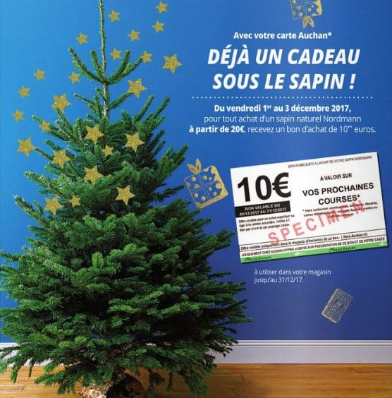 prix sapin de noel naturel auchan. Black Bedroom Furniture Sets. Home Design Ideas