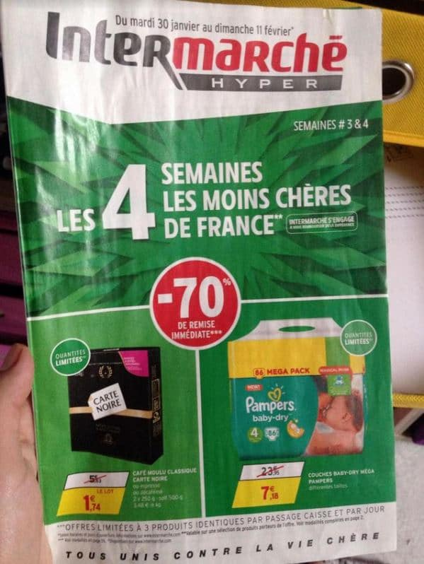 Intermarché Couches Pampers à 70 Promo Immédiate