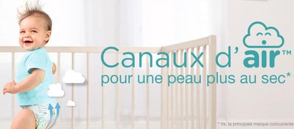 Couches Pampers Baby-Dry Canaux d'Air en test gratuit