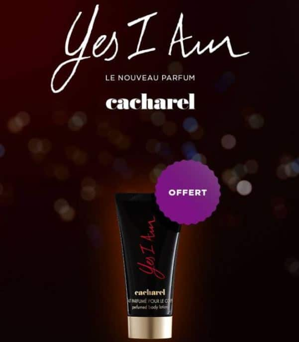 Lait parfumé Cacharel Yes I Am offert par Marionnaud