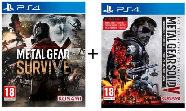 Pack Metal Gear Survive + Metal Gear Solid V The Definitive Experience à 39,99 € sur Cdiscount
