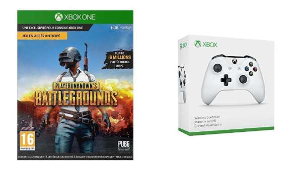 Le jeu PlayerUnknown's Battlegrounds PUBG + la manette Xbox Sans fil à 55 € sur Amazon