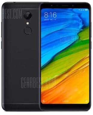 Smartphone Xiaomi Redmi 5 noir (global version) pas cher